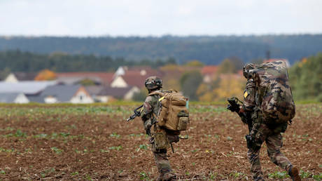 US Army soldiers during an exercise in Hohenfels, Germany, 2017. © Michaela Rehle / Reuters