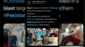 Bus bomb in northern Pakistan kills at least 13, including 9 Chinese engineers