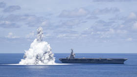 US Navy's explosive test off Florida coast triggers 3.9-magnitude 'quake' as world's most expensive warship undergoes shock trial
