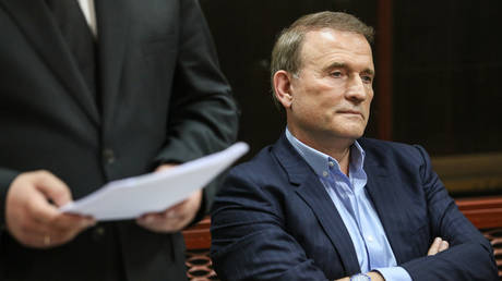 FILE PHOTO. Ukrainian lawmaker from the Opposition Platform - For Life party, Viktor Medvedchuk suspected of treason and embezzlement of national resources in Crimea attends a hearing at Kiev's Pecherskyi Court, Ukraine. © Sputnik