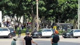 1 person stabbed as 'Medical Freedom' rally clashes with counter-protesters outside LA City Hall (VIDEO, PHOTO)