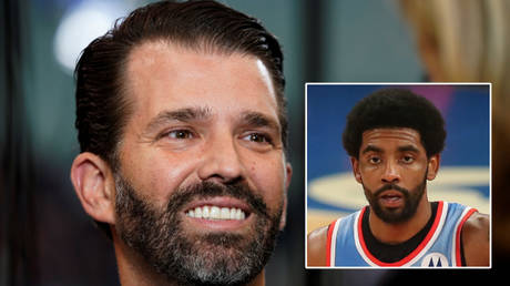 Donald Trump Jr (left) has backed Kyrie Irving © Rick Wilking / Reuters | © Brad Penner / USA Today Sports via Reuters