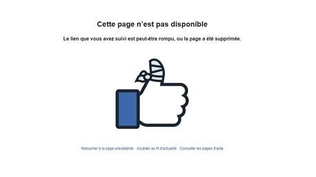 La page Telesur English était toujours indisponible sur Facebook le 15 août 2018.