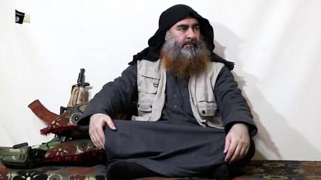 Abu Bakr Al-Baghdadi le 29 Avril 2019 à l'occasion d'un enregistrement audio