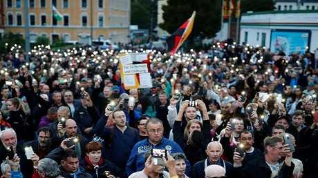 مظاهرة في مدينة كيمنتس الألمانية