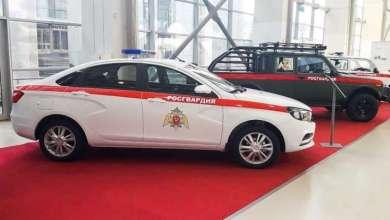 """الحرس الوطني الروسي يتسلم نسخة عسكرية من سيارة """"لادا فيستا"""" 12"""