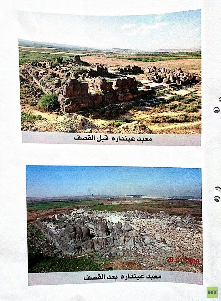 """Director of Antiquities in Syria: Turks are sweeping archaeological sites  Archaeologist in Syria: The Turks are sweeping the archeological sites """"Balbalozerat"""" in Afrin"""