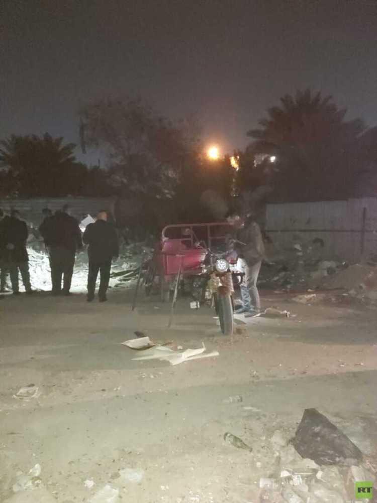 العثور على منصة الصواريخ التي استهدفت المنطقة الخضراء ومقرا تابعا للحشد (صور)