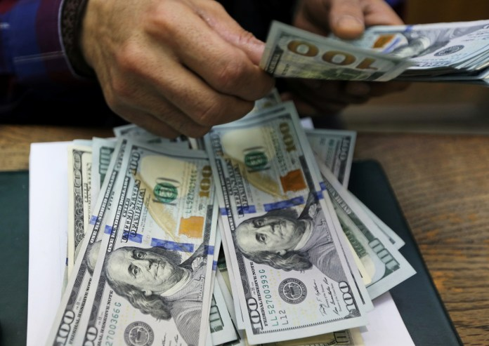 The US dollar continues to decline against the Egyptian pound