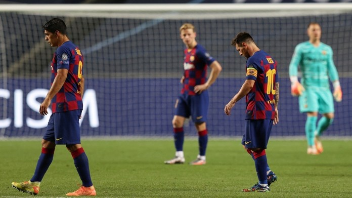 A loud scandal for Barcelona after losing to Bayern Munich by eight goals in the Champions League (video)