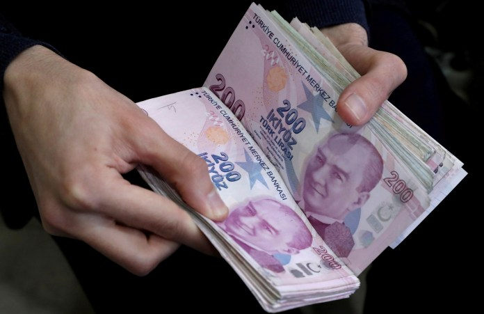 The Turkish lira drops to a new low