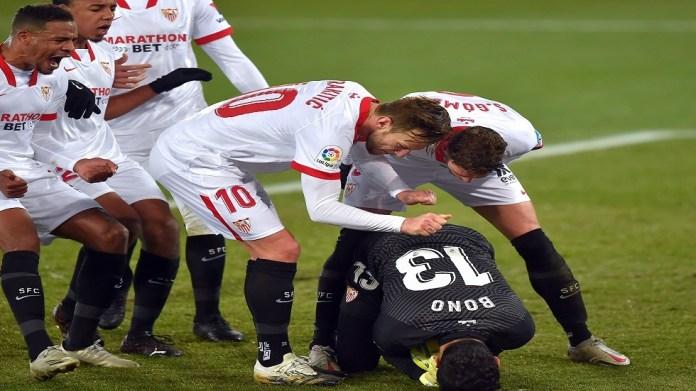 Moroccan Bono saves a penalty kick at a time