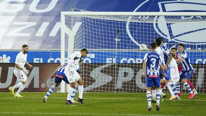 Watch .. Real Madrid shake the net of Alaves
