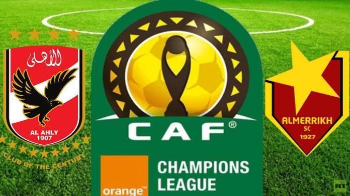 Al-Ahly squad against Sudanese Al-Merrikh
