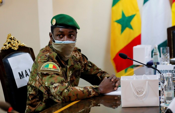 He overthrew two presidents within 9 months.. The leader of a Mali coup is sworn in as the country's president