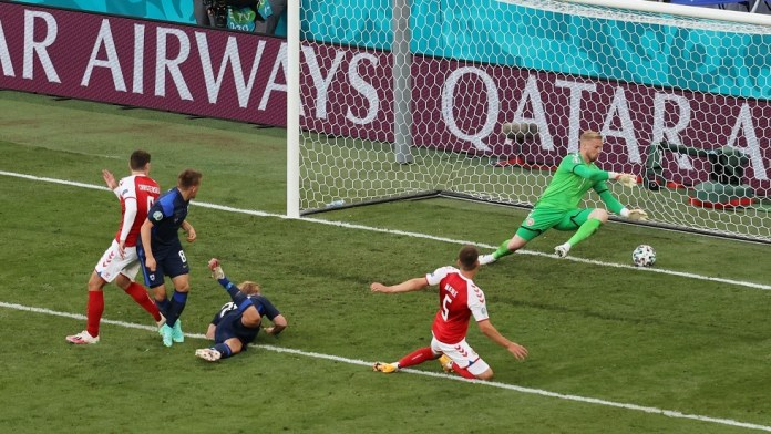 Finland deepens Denmark's wounds with a historic goal in