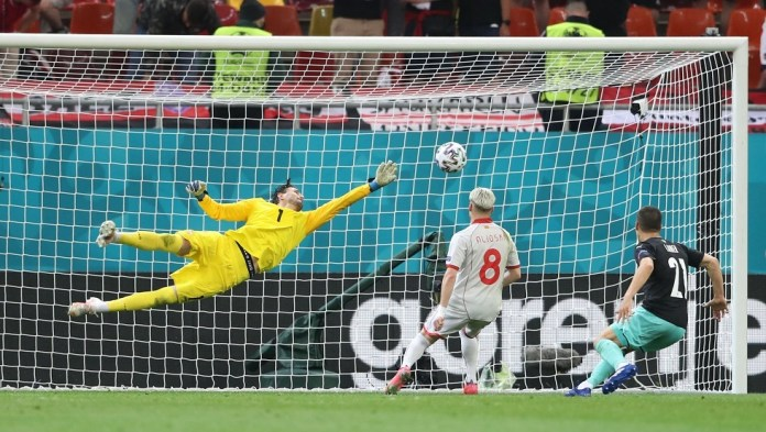 Austria beats North Macedonia in its first appearance in the European Cup.. Video