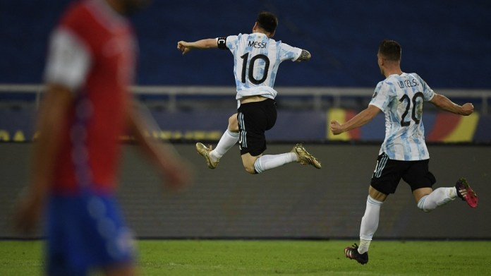 Messi opens the scoring for Argentina in the Copa America with a wonderful goal (video)