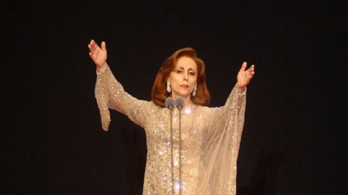 The neighbor of the moon, Fayrouz, looks down on her fans in a rare picture (photo)