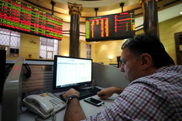 The Egyptian Stock Exchange gains 7.5 billion pounds in half an hour