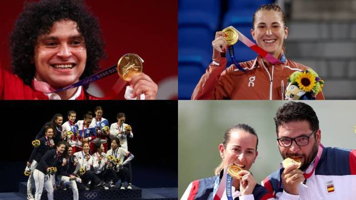 The results of the eighth day of Olympic medals