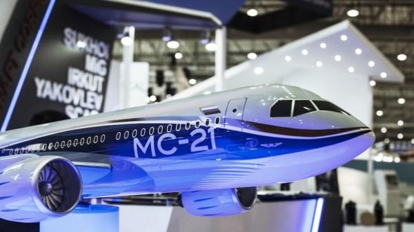 Россия представила новейший пассажирский самолёт МС-21 ...