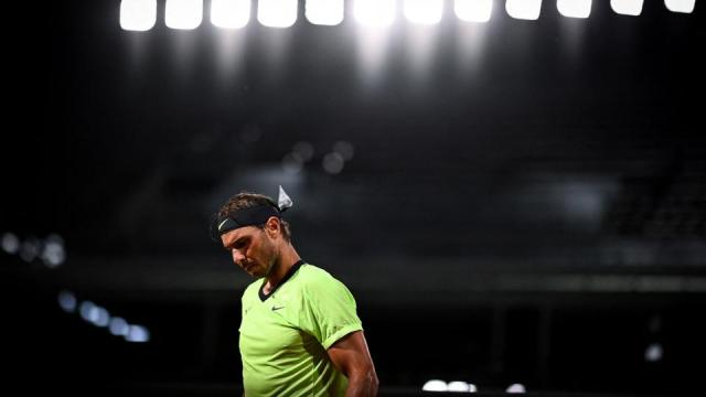 Spain's Rafael Nadal reacts on Day 5 of The Roland Garros 2021 French Open tennis tournament in Paris, France on June 3, 2021.