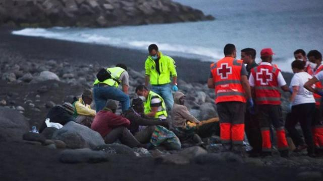 The Spanish Maritime Rescue Service says that it had rescued 63 people near the Canary Islands.