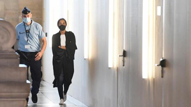 Olivia Ronen, Salah Abdeslam's lawyer arrives for the start of the trial of the November 2015 Paris attacks' defendants, taking place in a temporary courtroom set up for the proceedings at the Palais de Justice of Paris on September 8, 2021.