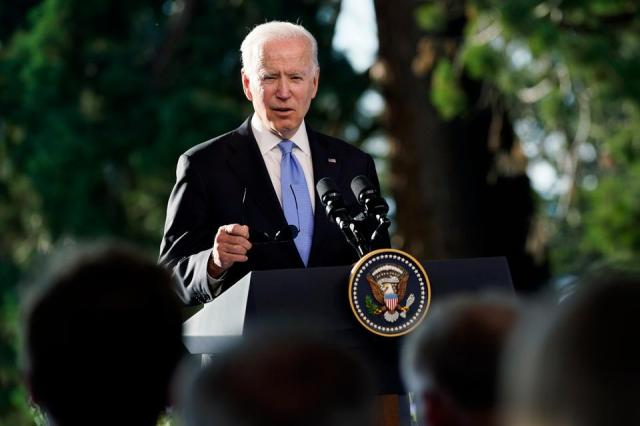 President Joe Biden speaks during a news conference after meeting with Russian President Vladimir Putin in Geneva, Switzerland on June 16, 2021.