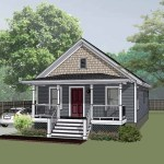 House Plan 75517 Bungalow Style With 912 Sq Ft 2 Bed 1 Bath