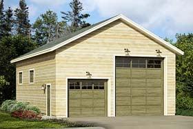 Traditional Style 3 Car Garage Plan Number 41274 Rv Storage