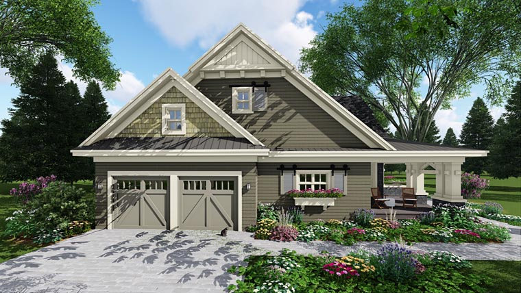 Craftsman Style House Plan With 3 Bed, 3 Bath