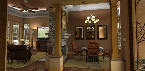 Plan 65862 Tuscan Style House Plan with 3 Bed 3 Bath