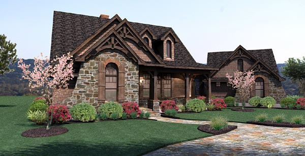 Plan 65866 Cottage Style House Plan with 3 Bed 3 Bath