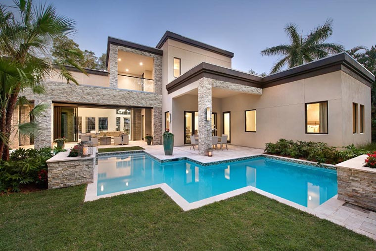 Contemporary Modern House Plan 71535