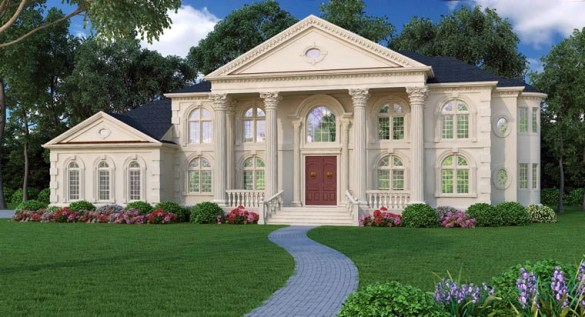 Colonial Greek Revival Plantation House Plan 72163 Colonial Greek Revival Plantation House Plan 72163 Elevation