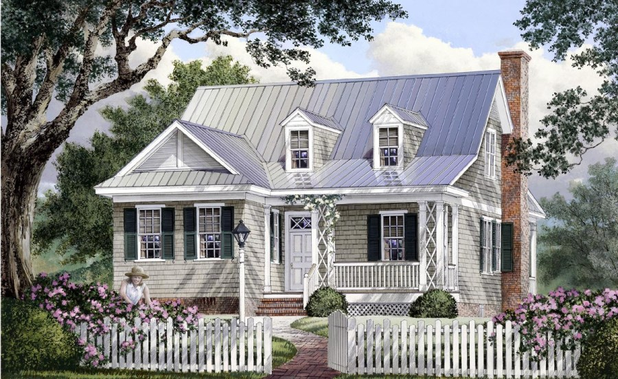House Plan 86106 at FamilyHomePlans com Click Here to see an even larger picture  Cape Cod Cottage Country Southern House  Plan