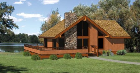 Cabin House Plan 94307 Cabin House Plan 94307 Elevation