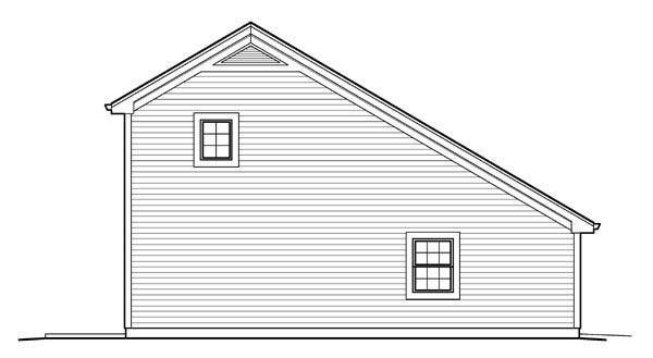 Country Saltbox Garage Plan 95826