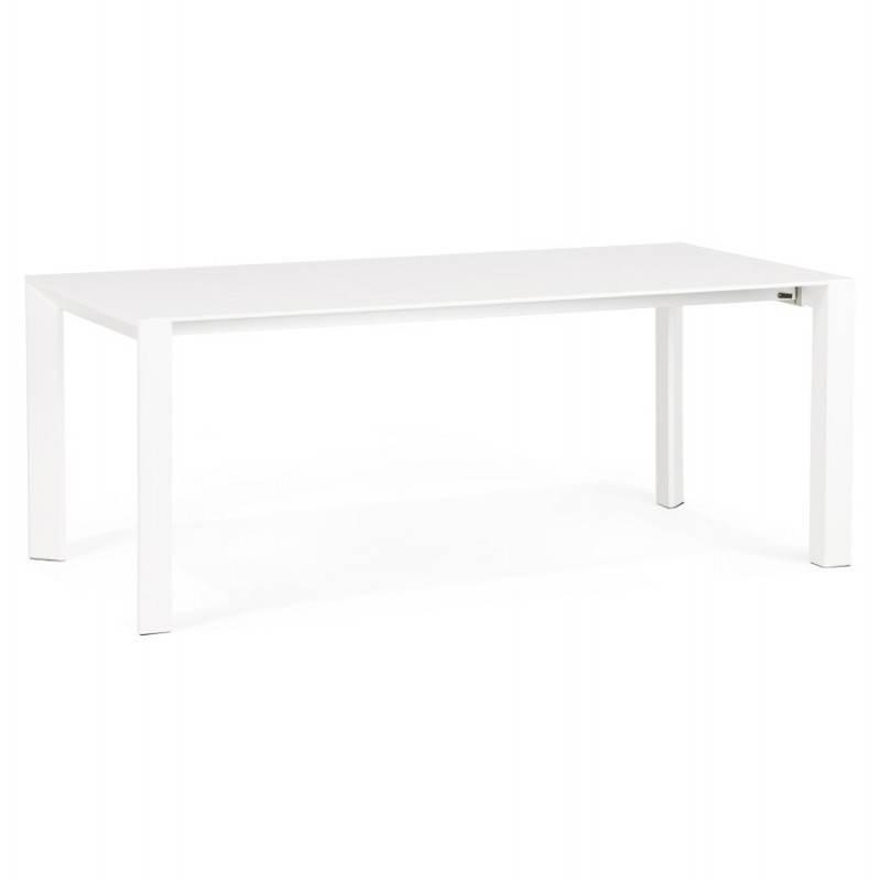 table design avec 2 rallonges macy en bois peint blanc table de salle a manger et table haute