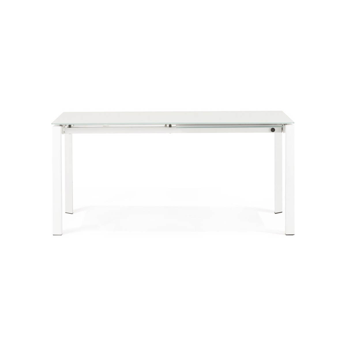 rectangular design table with extension jeanne glass and metal white amp story 3479