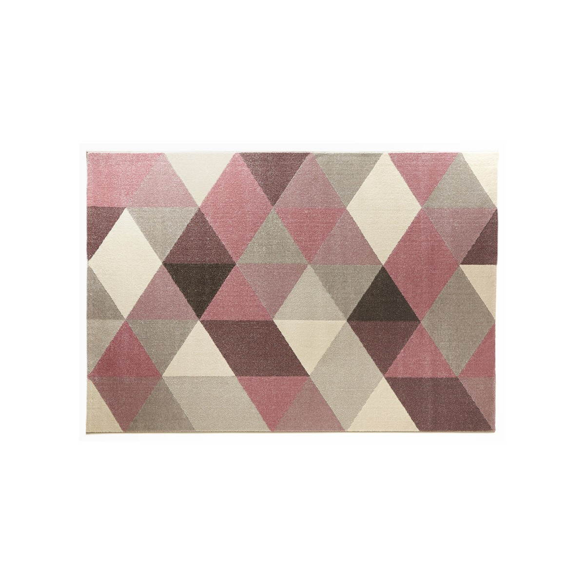 tapis design style scandinave rectangulaire geo 230cm x 160cm rose gris beige amp story 3764