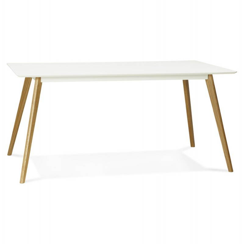 dining table style scandinavian rectangular barley white wood dining room table and high table