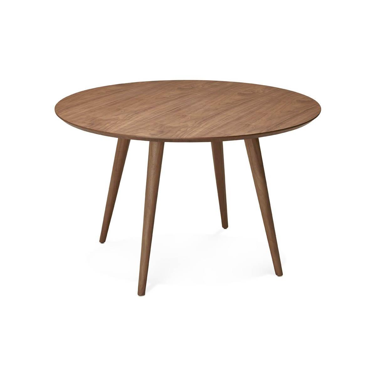 round dining table vintage style scandinavian sofia o 120 cm wood walnut amp story 3994