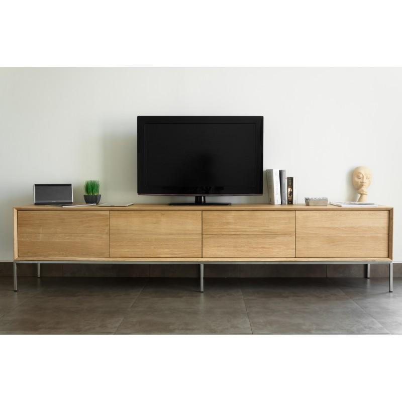 tv cabinet low design 2 drawers 2 doors jason solid oak natural oak jason dining