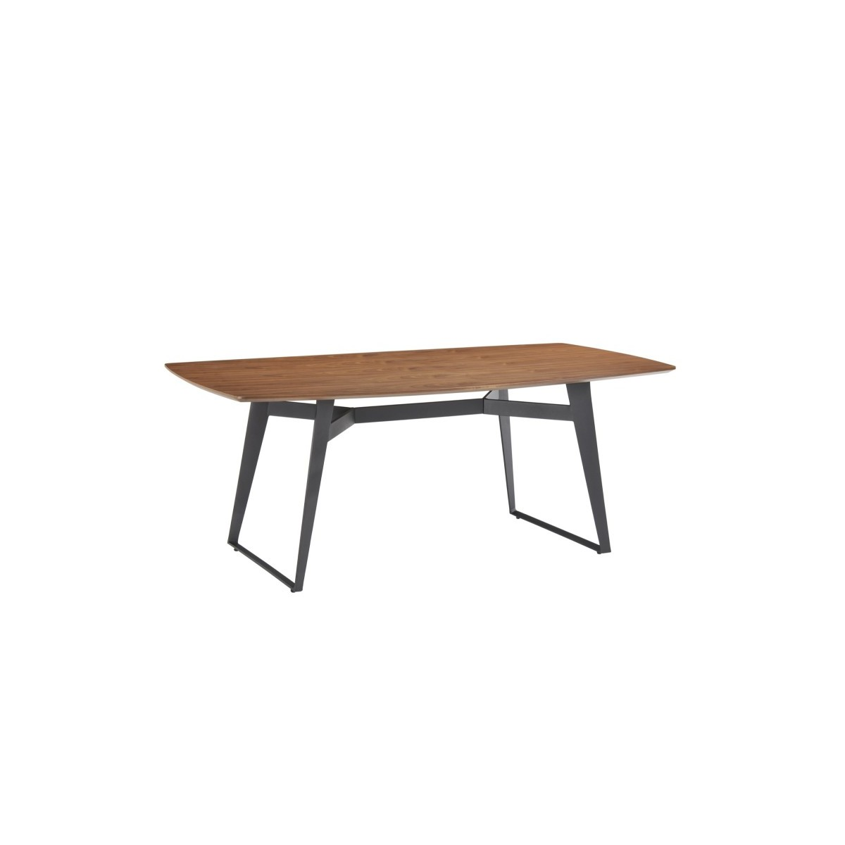 contemporary dining table and vintage