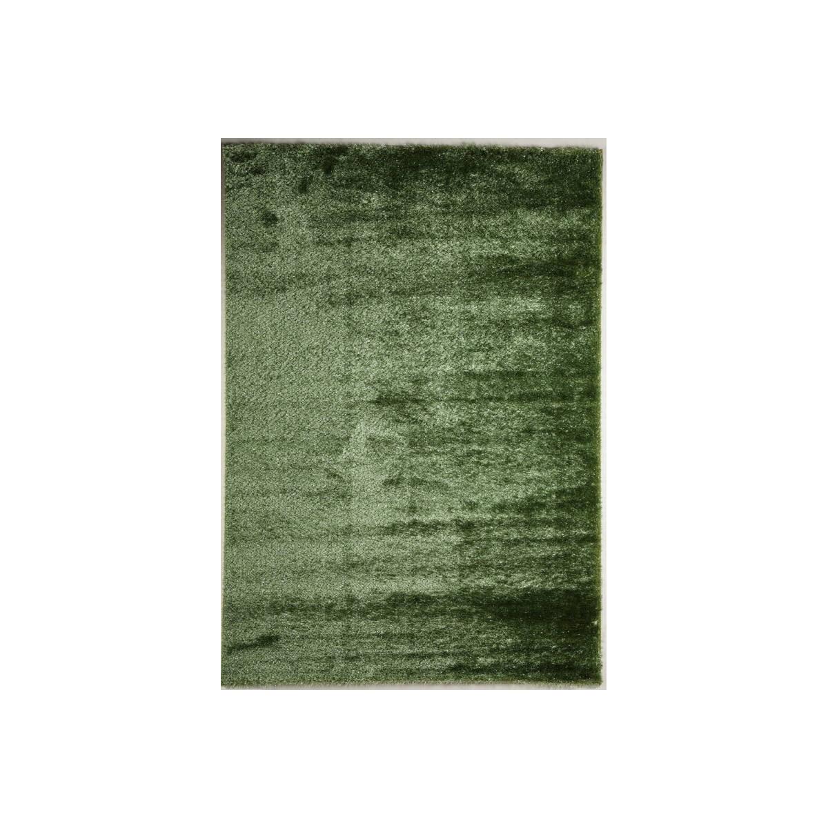 tapis shaggy de salon brillant et elegant 80x150 cm shaggy moonlight vert amp story 5267
