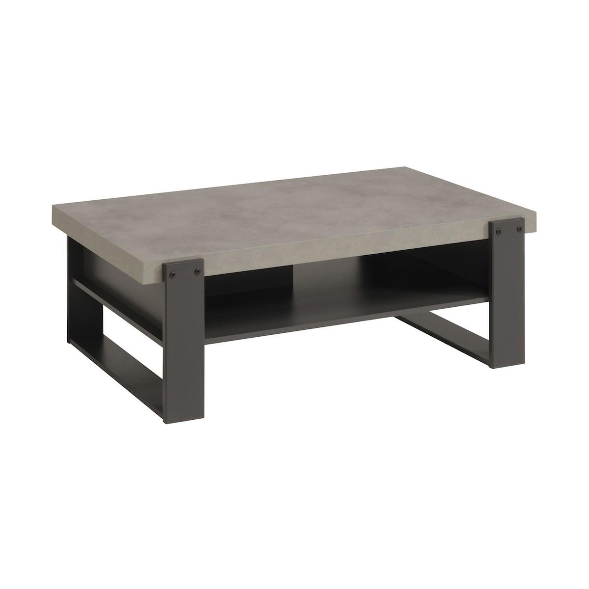 table basse industrielle eleonor en bois beton clair gris ombre amp story 5843