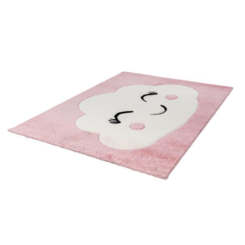tapis enfant sydney rectangulaire tisse a la machine rose tapis enfant